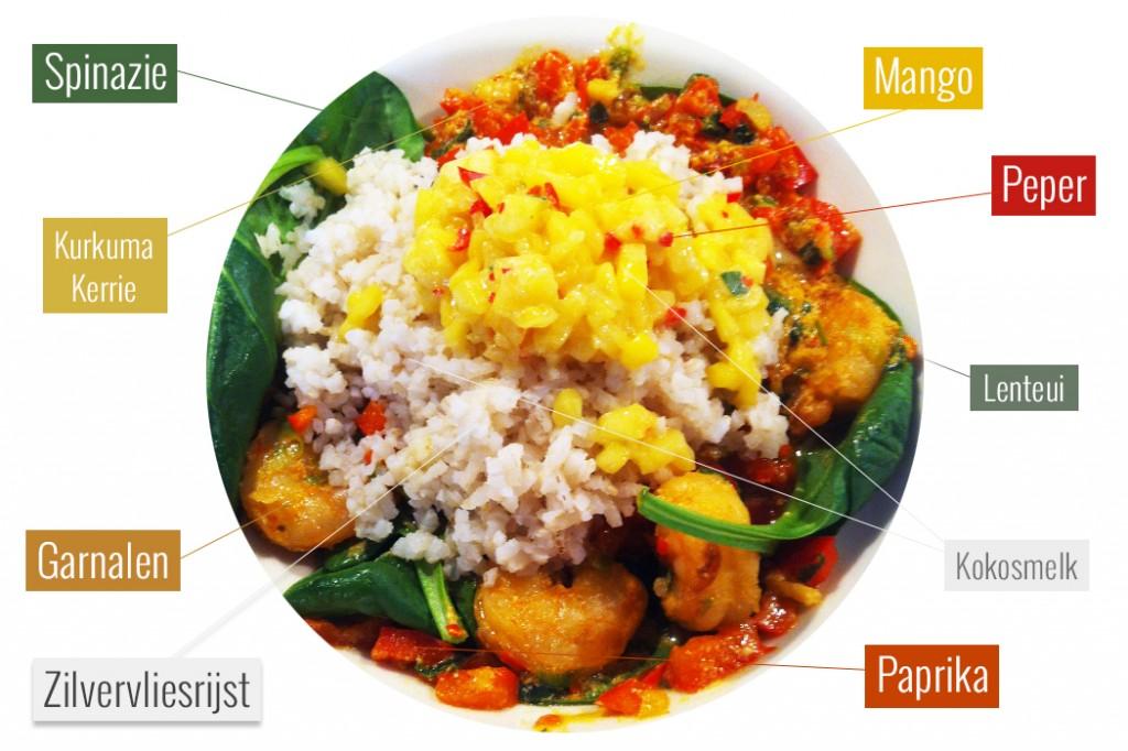 Garnalen Kokos Curry